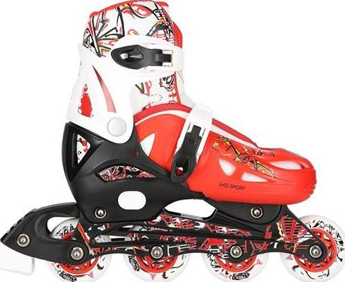 NILS Extreme Łyżworolki AKO-RD02 Red r. 30-33