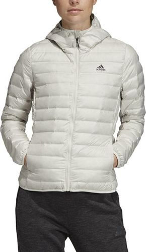Adidas Kurtka damska Varilite Hooded Down Jacket biała r. M (DZ1490)