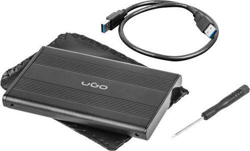 "Etui UGO Obudowa na dysk UGO Marapi S130 USB 3.0 SATA III 2,5"" aluminium czarna"
