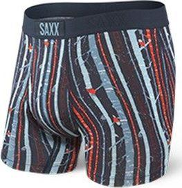SAXX Bokserki męskie Ultra Boxer Brief Fly Black Snow Owl r. S