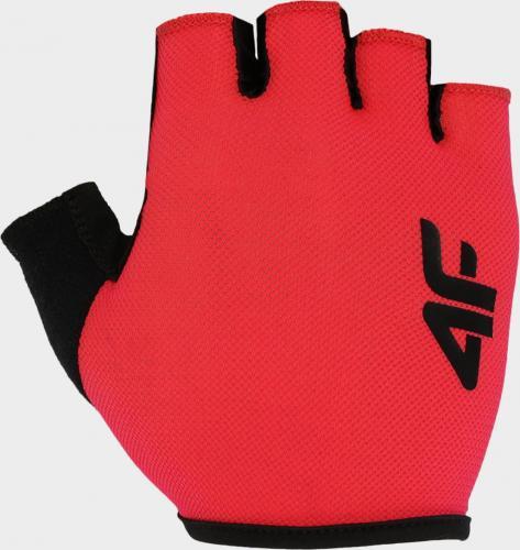 4f Rękawiczki rowerowe H4L20-RRU001 czerwone r. S