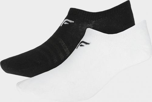 4f Skarpety damskie H4L20-SOD003 białe/czarne r. 35-38