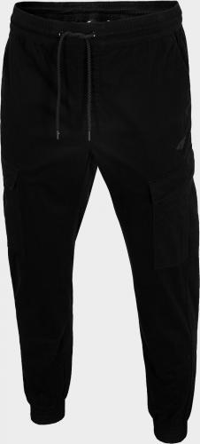 4f Spodnie męskie H4L20-SPMC010 czarne r. XL