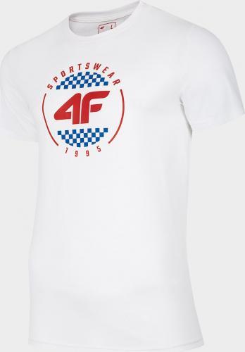 4f Koszulka męska H4L20-TSM022 biała r. L