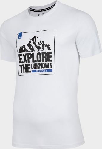 4f Koszulka męska  H4L20-TSM060 biała r. XXL