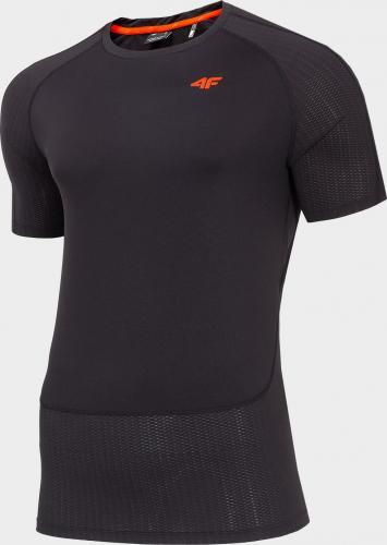 4f Koszulka męska H4L20-TSMF014 głęboka czerń r. L