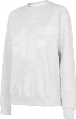 4f Bluza damska H4L20-BLD001 Biały Melanż r. S