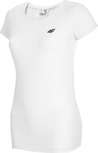 4f Koszulka damska H4L20-TSD001 biała r. S