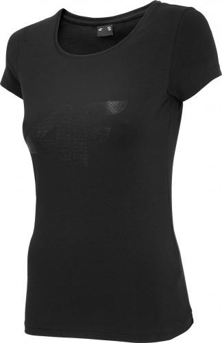 4f Koszulka damska H4L20-TSD005 czarna r. S