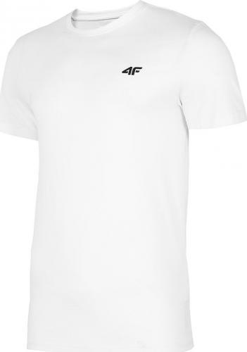 4f Koszulka męska H4L20-TSM003 biała r. L