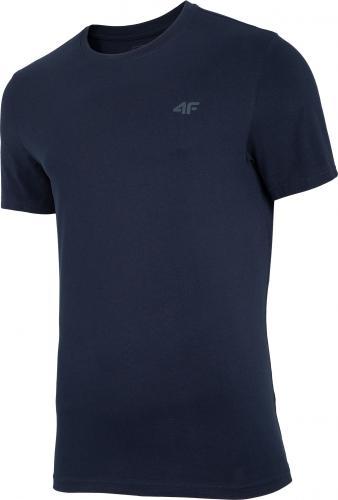 4f t-shirt męski NOSH4-TSM003 GRANAT r.L