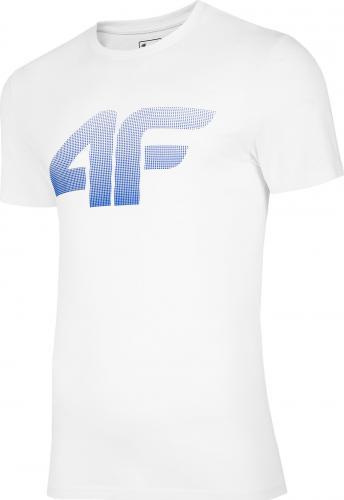 4f t-shirt męski H4Z20-TSM004 BIAŁY r.XL