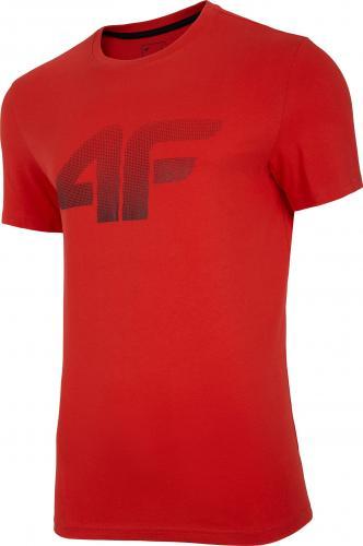 4f Koszulka męska H4L20-TSM004 czerwona r. M