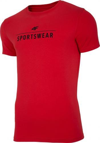 4f Koszulka męska H4L20-TSM005 czerwona r. L