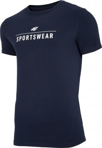 4f t-shirt męski NOSH4-TSM005 GRANAT r.XL