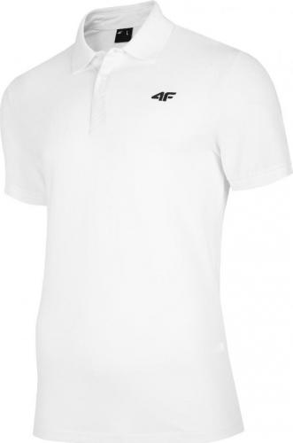 4f Koszulka męska H4L20-TSM007 biała r. M