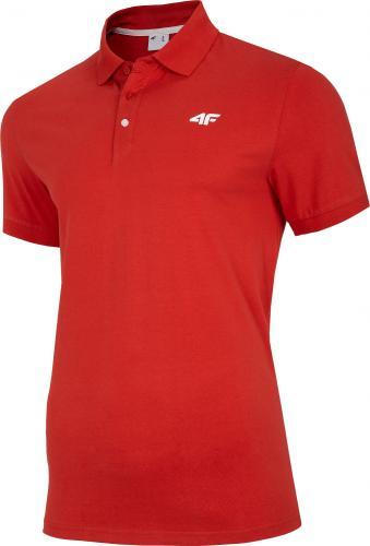 4f t-shirt męski H4Z20-TSM007 CZERWONY r.XL