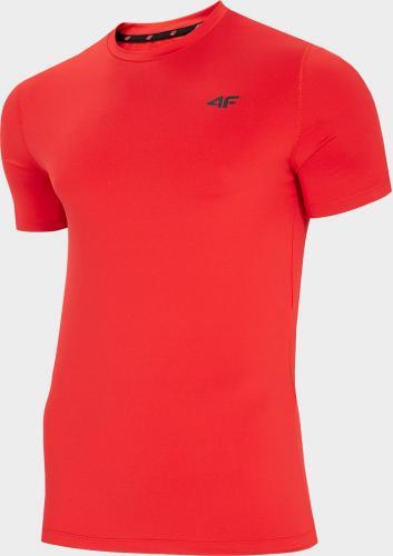 4f Koszulka męska H4L20-TSMF002 czerwona r. L