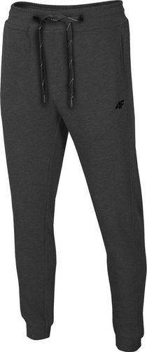4f Spodnie męskie H4L19-SPMD001 ciemny szary melanż r. S