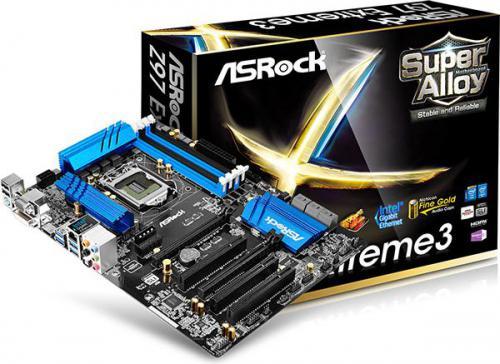 Płyta główna ASRock Z97 EXTREME3, Z97, DualDDR3-1600, SATA3, RAID, HDMI, DVI, D-Sub, ATX (Z97 EXTREME3)
