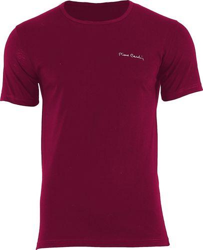 Pierre Cardin T-shirt Arturo Rneck 1-pack Bordowy - Pierre Cardin - XXL