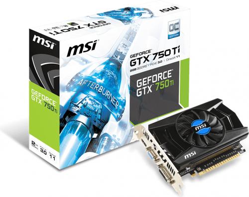 Karta graficzna MSI GeForce GTX 750Ti OC 2GB GDDR5 (128 bit) VGA, DVI, HDMI (N750Ti-2GD5/OC V1)