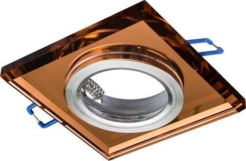 Lampa sufitowa Eko-Light Oczko sufitowe szklane KWADRATOWE. Kolor: BURSZTYN