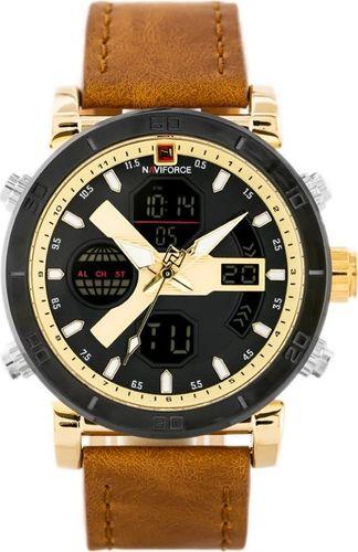 Zegarek Naviforce ZEGAREK MĘSKI NAVIFORCE - NF9132 (zn073c) - brown/gold + box uniwersalny