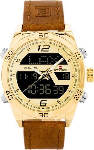 Zegarek Naviforce ZEGAREK MĘSKI NAVIFORCE - NF9128 (zn071d) - brown/gold + box uniwersalny