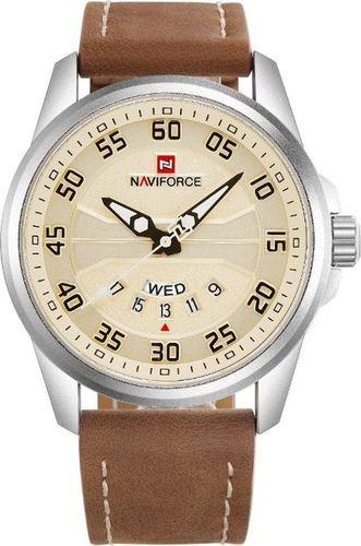Zegarek Naviforce ZEGAREK MĘSKI NAVIFORCE - NF9124 (zn055a) + BOX - camel/silver uniwersalny