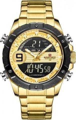 Zegarek Naviforce ZEGAREK MĘSKI NAVIFORCE - NF9146S (zn089d) - gold + BOX uniwersalny