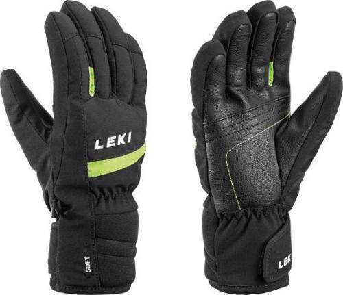 LEKI Rękawice narciarskie Max Junior black-lime r. 8.0