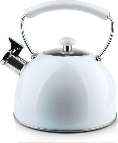 Mondex Biały Stalowy Czajnik z Gwizdkiem INDUKCJA 2,5l uniwersalny