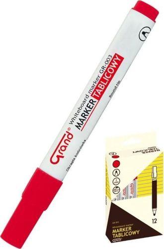 Grand Marker tablicowy GR-003 czerwony (12szt) GRAND