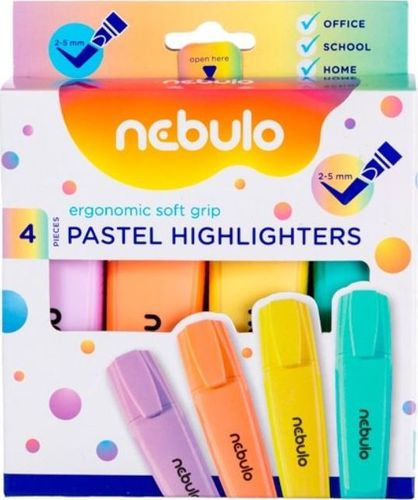Nebulo Zakreślacz pastelowy 4 kolory NEBULO