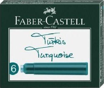 Faber Castell Naboje krótkie turkus 6szt FABER CASTELL