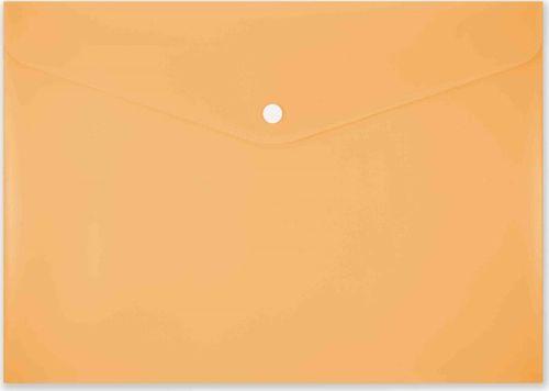 Penmate Koperta na zatrzask A4 PP-113 pastelowa pomarańcz