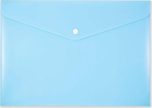 Penmate Koperta na zatrzask A4 PP-113 pastelowa niebieska