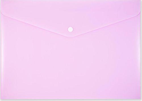 Penmate Koperta na zatrzask A4 PP-113 pastelowa różowa