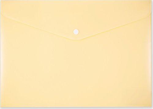 Penmate Koperta na zatrzask A4 PP-113 pastelowa żółta