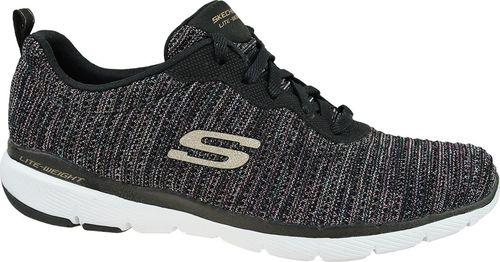 Skechers Buty damskie Flex Appeal 3.0 Endless Glamour czarne r. 35 (13071-BKMT)