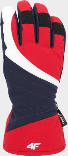 4f Rękawice narciarskie H4Z19-RED001 czerwone r. XS