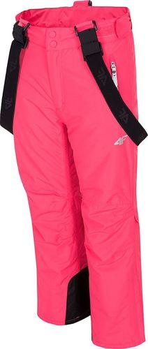 4f Spodnie narciarskie 4F H4J19-JSPDN001 55S HJZ19-JSPDN001 55S różowy 134 cm