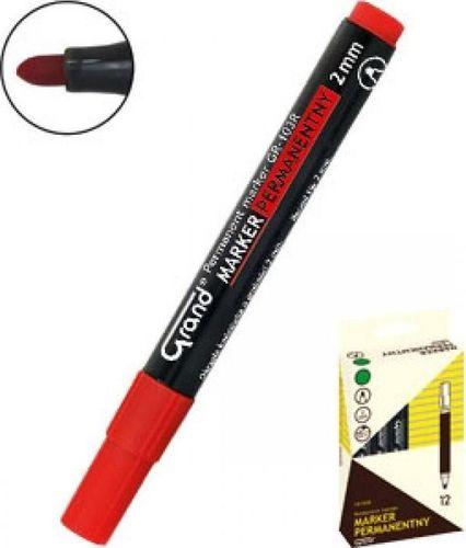 Grand Marker permanentny GR-103R czerwony (12szt) GRAND