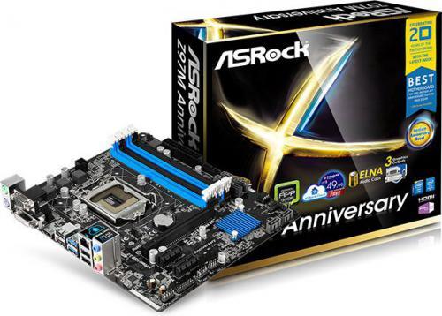 Płyta główna ASRock Z97M Anniversary Z97, DualDDR3-3100, SATA3, HDMI, GBLAN, Micro ATX