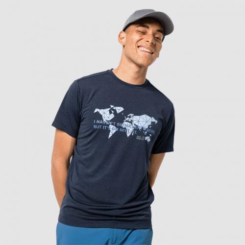 Jack Wolfskin Koszulka męska Jwp World T M night blue r. XXL