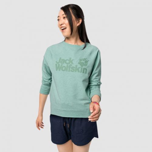 Jack Wolfskin Bluza damska Logo Sweatshirt W light jade r. L