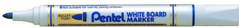 Pentel Marker do tablic suchościeralnych MW85 okrągła końcówką niebieski (42K019C)