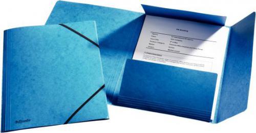 Esselte Teczka z gumką narożną A4 preszpanowa niebieski (10K017C)