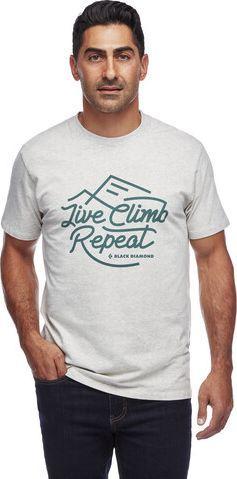 Black Diamond Koszulka męska Koszulka męska Live Climb Repeat Tee Birch Heather r. L